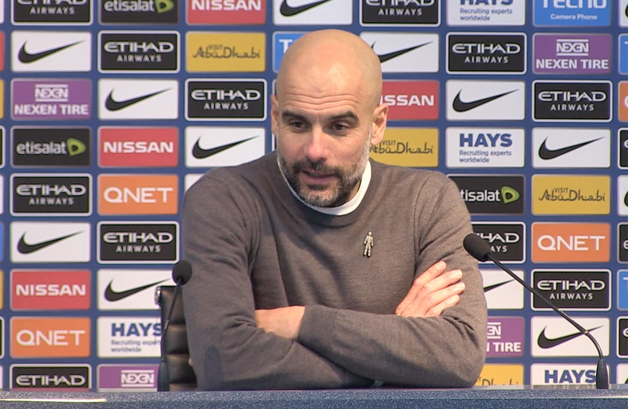 Video: Pep Guardiola Post-Manchester City away press conference thumbnail